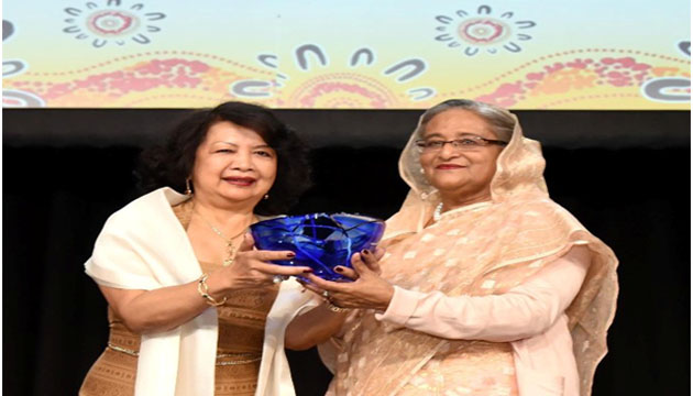 Bangladesh Prime Minister SheikhHasina receives Global Women's Leadership Award 2018