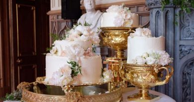The wedding cake is to be served at the Reception