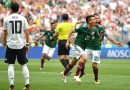 Mexico defeats Germany 1-0 in the 2018 FIFA World Cup Group F.