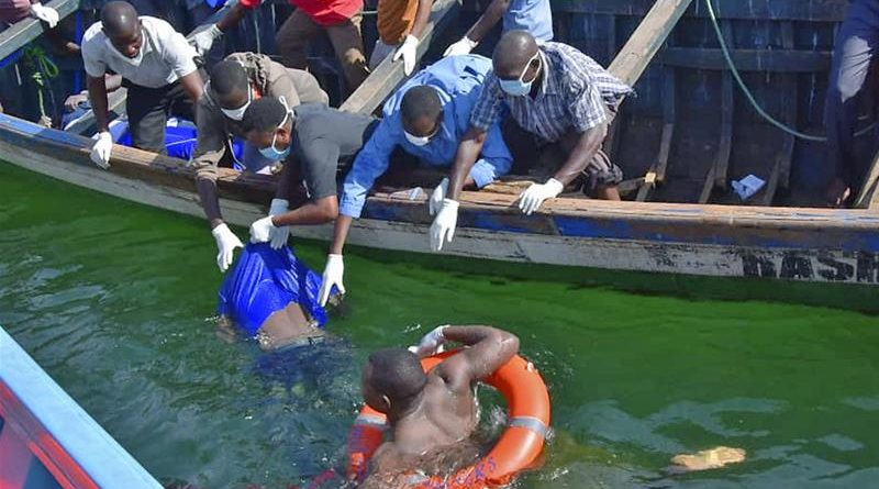 Rescue efforts under way  as death toll hits 136 after boat suspected of carrying too many people capsized.