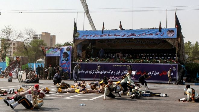 Unknown gunmen opened fire killed at least 29 people and Wounded 53 in the southwestern Iranian city of Ahvaz.