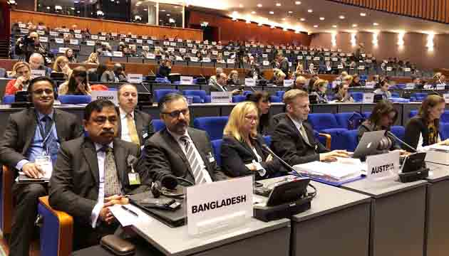 Bangladesh elected as a Member of Bureau of the International Criminal Court for the next two years (2019-20).