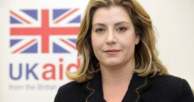 British Secretary of State for Department for International Development Penny Mordaunt expresses deep shock over the loss of lives following a big fire incident in Dhaka city.