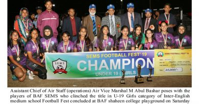 Inter-English Medium School Football Fest concludes