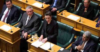 New Zealand Prime Minister Jacinda Ardern announces sweeping ban on military style semi-automatic guns, six days out from terror attack.