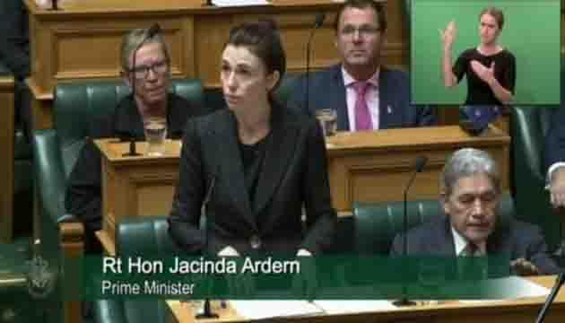 New Zealand Prime Minister Jacinda Ardern addresses Parliament on Christchurch terror attack