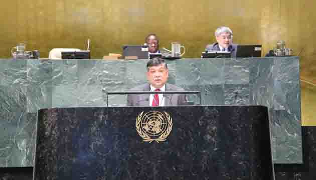 The Government of Prime Minister Sheikh Hasina has stressed on achieving decent work for all' says –Ambassador Masud Bin Momen at the UN