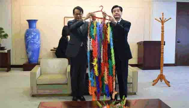 One thousand origami cranes flew from camp in Cox's Bazar to Hiroshima