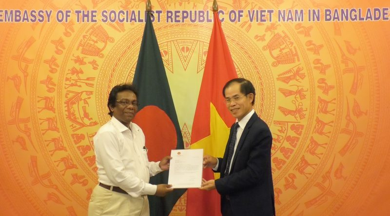 Viet Nam Embassy to Dhaka has handed over a credentials letter to Today's World News 24.