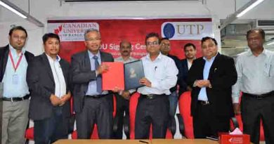 Canadian University of Bangladesh Inks MOU With Universiti Teknologi Petronas, Malaysia