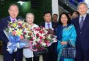 Marshall Island President Dr Hilda Heine and former UN Secretary-General Ban Ki-moon arrive in Bangladesh to attend the 'Dhaka Meeting of the Global Commission on Adaptation.