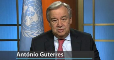 UN Secretary-General Antonio Guterres's Message appeal for Global Cease-Fire