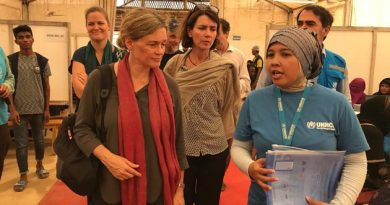 Swedish delegation including Dr. Cecilia Ruthström-Ruin, visits UNHCR Bangladesh registration site at the Rohingya Camp, Cox's Bazar.