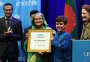 Bangladesh Prime Minister Sheikh Hasina has received the prestigious 'Champion of the Skills Development for Youths' Award.