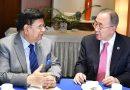 Former UN Secretary General Ban Ki-moon met Bangladesh Foreign Minister Dr. Momen