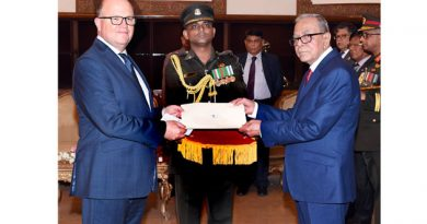 Australian High Commissioner, Mr Jeremy Bruer, Presents Credentials to President Md Abdul Hamid