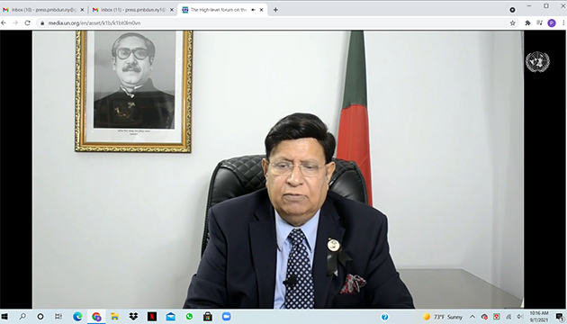 Bangladesh Foreign Minister calls for renewed commitment and partnership of all stakeholders in rebuilding from the pandemic.