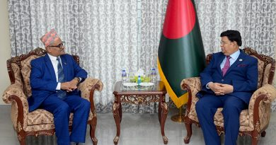 Ambassador of Nepal to Bangladesh paid a farewell call on the Foreign Minister Dr. A K Abdul Momen.
